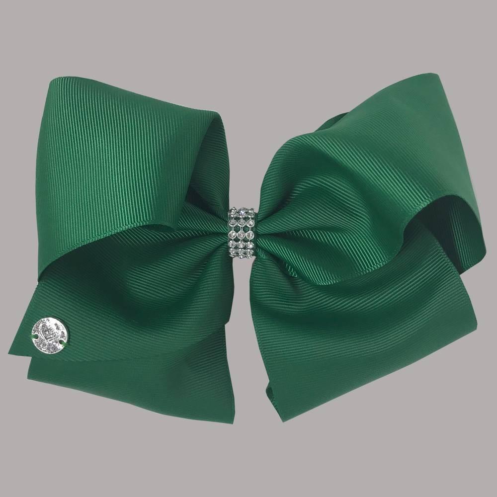 Image of Girls' Nickelodeon JoJo Siwa Rhinestone Keeper Bow Hair Clip - Green, Girl's, Green Black