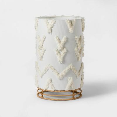 Boho Rattan Cylinder Nightlight - Pillowfort™
