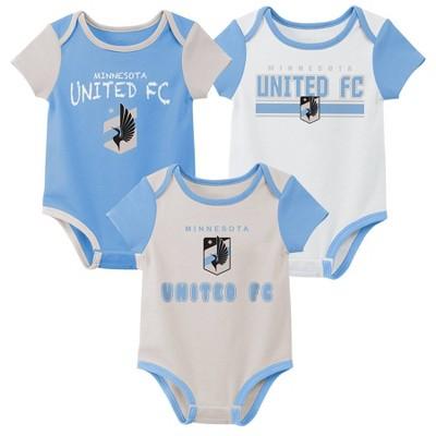 MLS Minnesota United FC Baby 3pk Bodysuit Set