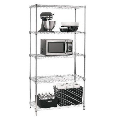 Adjustable 5-Tier Wire Shelving Unit - Chrome - Room Essentials™