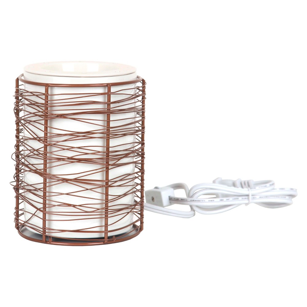 Electric Fragrance Warmer White/Copper (Brown) Wire - Chesapeake Bay Candle