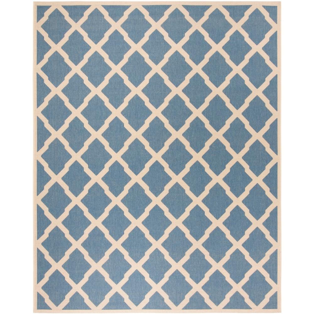 8'X10' Geometric Loomed Area Rug Blue/Cream - Safavieh