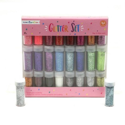 24ct Glitter Set  10g Pink Package - FLOMO
