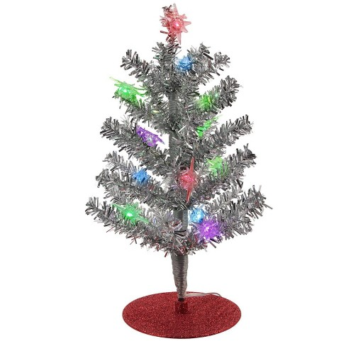 Christmas Tree Tinsel.Philips Battery Operated Led Christmas Tree Light With Tinsel Novelty Sculpture