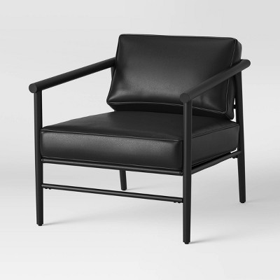 Winrock Metal Frame Chair Black Faux Leather - Project 62™