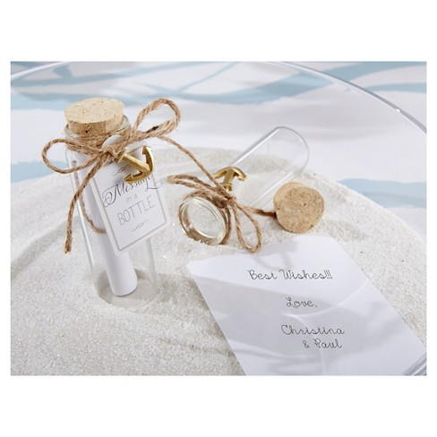 12ct Message In A Bottle Glass Favor Target