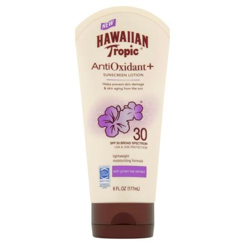 Hawaiian Tropic Antioxidant Sunscreen Lotion Broad Spectrum - SPF 30 - 6oz - image 1 of 10