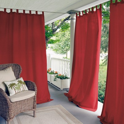 Matine Solid Tab Top Indoor/Outdoor Window Curtain for Patio, Pergola, Porch, Cabana, Deck, Lanai - Elrene Home Fashions