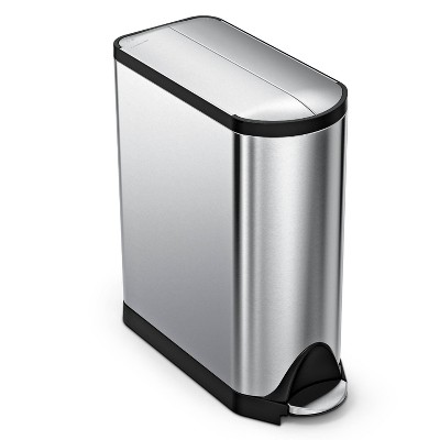 simplehuman 45L Butterfly Step Trash Can Brushed Stainless Steel
