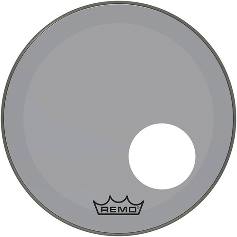 """Remo Powerstroke P3 Colortone Smoke Resonant Bass Drum Head with 5"""" Offset Hole - image 1 of 2"""