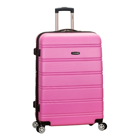 "Rockland Melbourne 28"" Expandable Hardside Spinner Suitcase - Pink - image 1 of 5"