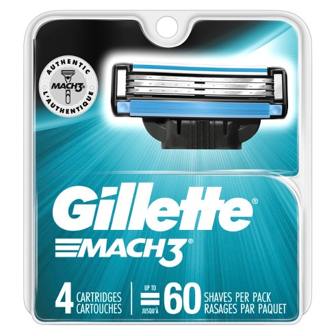 Gillette Mach3 Men's Razor Blade Refills - 4ct - image 1 of 8