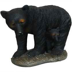 """21"""" Mama Bear and Cub Outdoor Garden Statue - Sunnydaze Decor"""