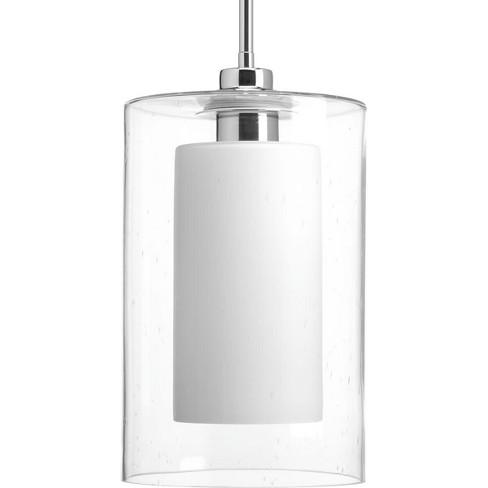 "Progress Lighting P500019 Double Glass Single Light 8"" Wide Mini Pendant - image 1 of 1"