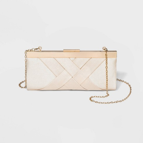 Estee & Lilly Crisscross Textured Clutch - image 1 of 3