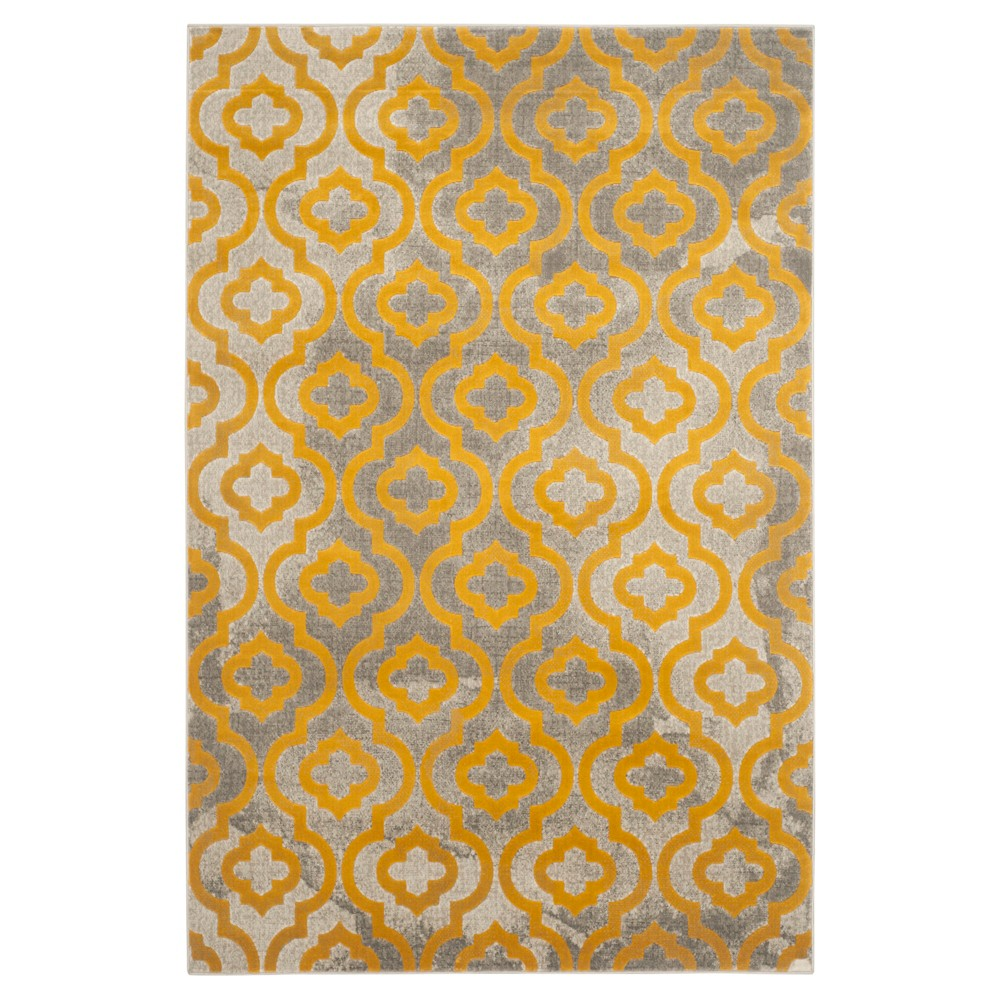 Milo Area Rug - Light Gray / Yellow ( 5' 2