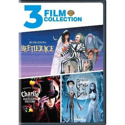 Beetlejuice / Charlie and the Chocolate Factory / Tim Burton's Corpse Bride (DVD)
