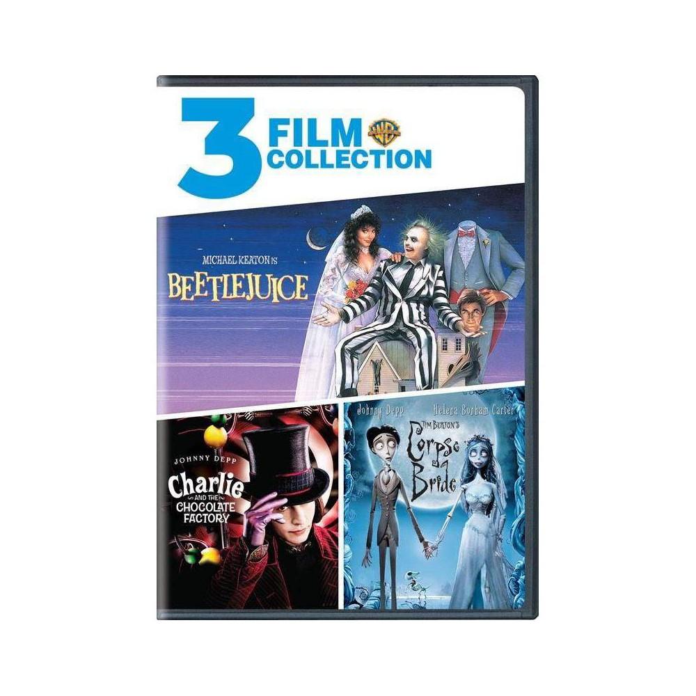Beetlejuice Charlie And The Chocolate Factory Tim Burton 39 S Corpse Bride Dvd
