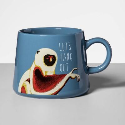 16oz Porcelain Let's Hang Out Mug Blue - Opalhouse™