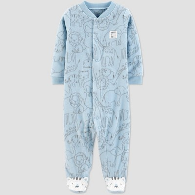 Baby Boys' Sleep 'N Play Safari 1pc Pajama - Just One You® made by carter's Blue Newborn