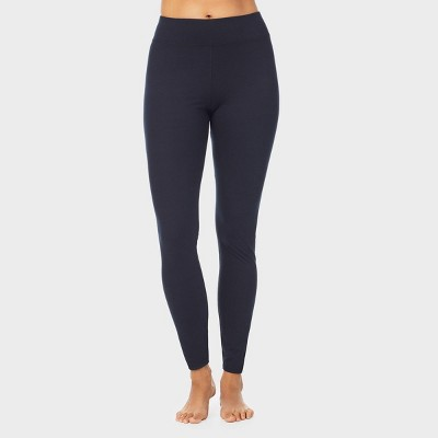 Warm Essentials by Cuddl Duds Women's Soft and Sustainable Thermal Leggings - Black