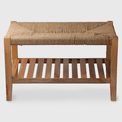 Wood and Jute Rope Bench - Threshold™