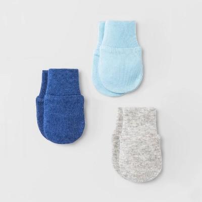 Baby Boys' 3pk Basic Mittens - Cloud Island™ Blue