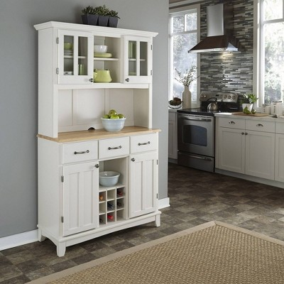Sideboard buffet Servers Wood Top and Hutch - Home Styles