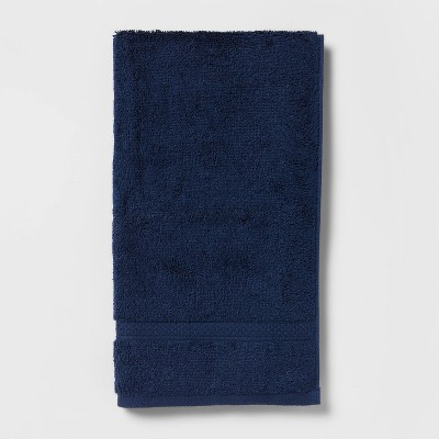 Perfectly Soft Solid Hand Towel Navy Blue - Opalhouse™