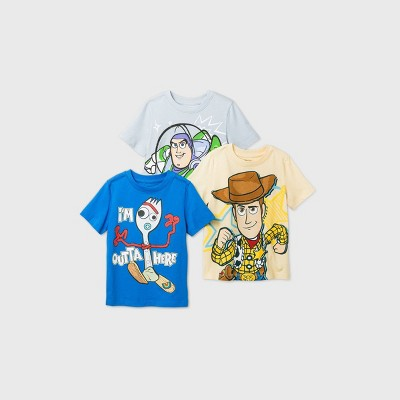 Toddler Boys' 3pk Toy Story Short Sleeve T-Shirt