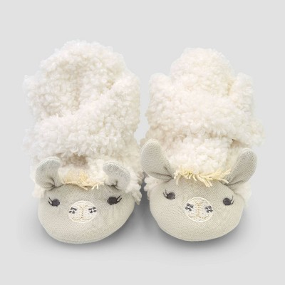 Baby Constructed Llama Bootie Slippers - Cloud Island™ 3-6M