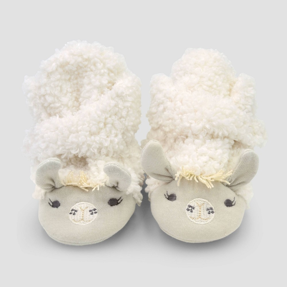 Image of Baby Constructed Llama Bootie Slippers - Cloud Island 0-3M, Kids Unisex, MultiColored