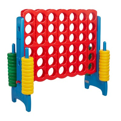 ECR4Kids Jumbo Four-To-Score Giant Game-Indoor/Outdoor 4-In-A-Row Connect - Primary Colors