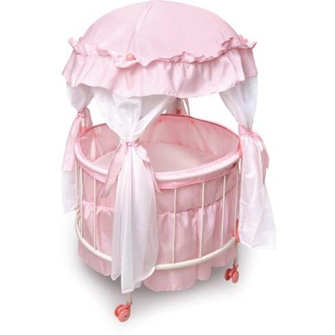 Badger Basket Royal Pavilion Round Doll Crib Target