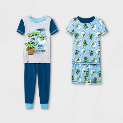 Toddler Boys' 4pc LEGO Star Wars 100% Cotton Snug Fit Pajama Set - Blue