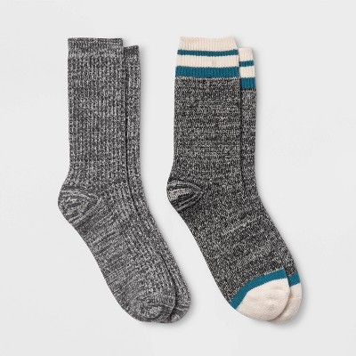 Women's Lightweight Marled Striped & Textured Super Soft 2pk Crew Socks - All in Motion™ 4-10