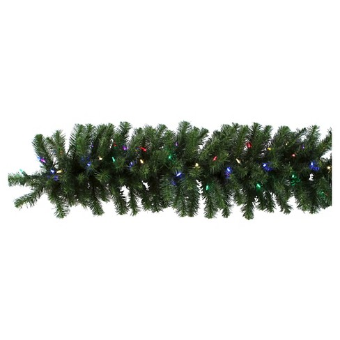 "9' X 14"" Douglas Fir Garland With LED Lights - Green - image 1 of 1"