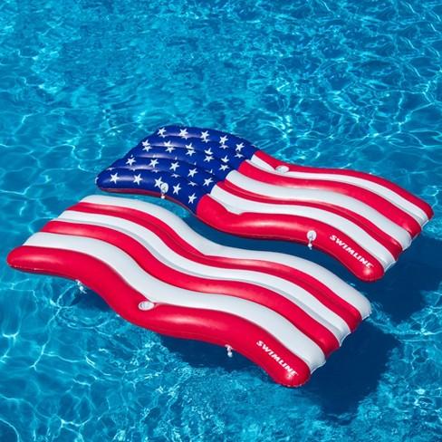 Swimline Inflatable Americana Flag Swimming Pool And Lake Connector ...