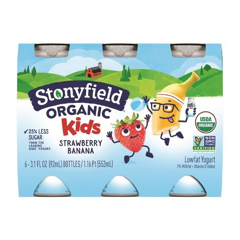 Stonyfield YoKids Smoothie Strawberry Banana - 3.1oz/6pk - image 1 of 1
