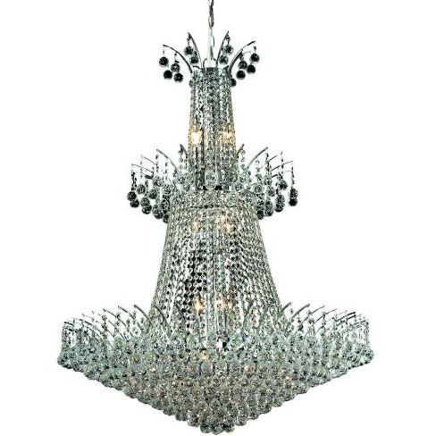 Elegant Lighting 8031G32C Victoria 18-Light, Three-Tier Crystal Chandelier, Finished in Chrome - image 1 of 1
