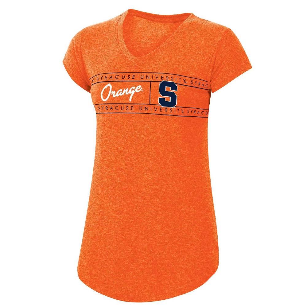 Ncaa Syracuse Orange Women 39 S Short Sleeve Gray V Neck T Shirt L
