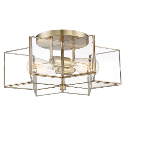 Ceiling Lights Semi Flush Mount Natural Br Aurora Lighting