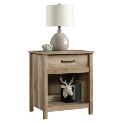 Cannery Bridge Nightstand with Drawer and Storage Shelf - Lintel Oak - Sauder
