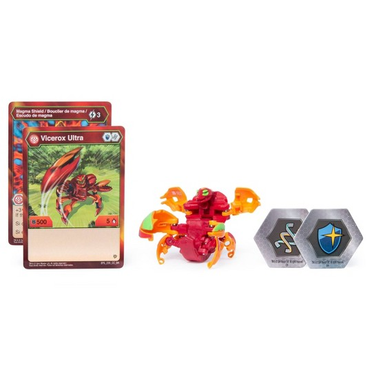 """""""Bakugan Ultra Pyrus Vicerox 3"""""""" Collectible Action Figure and Trading Card"""" image number null"""