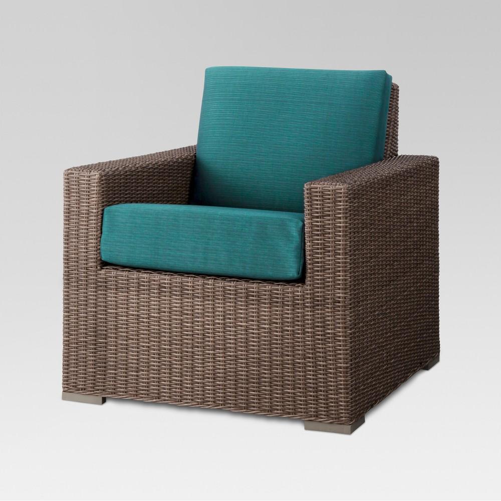 Heatherstone Wicker Patio Club Chair - Turquoise - Threshold