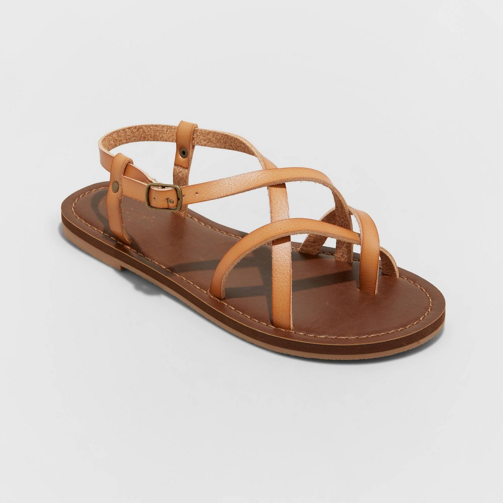 Women 39 S Annamaria Toe Loop Strappy Sandals Universal Thread 8482 Tan 14