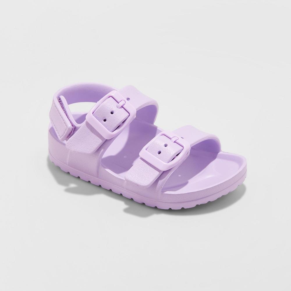 Toddler Girls' Jandra Eva Slide Sandals - Cat & Jack Purple 5