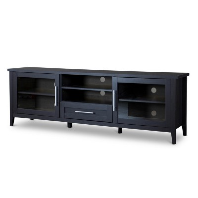Espresso Finished TV Stand One Drawer Dark Brown - Baxton Studio