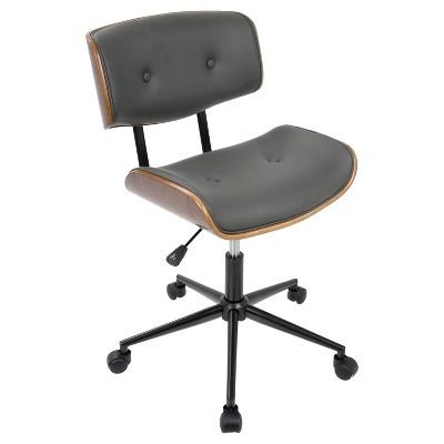 lombardi mid century modern office chair with swivel walnut and rh target com Mid Century Modern Chair Styles Mid Century Modern Desk Chair