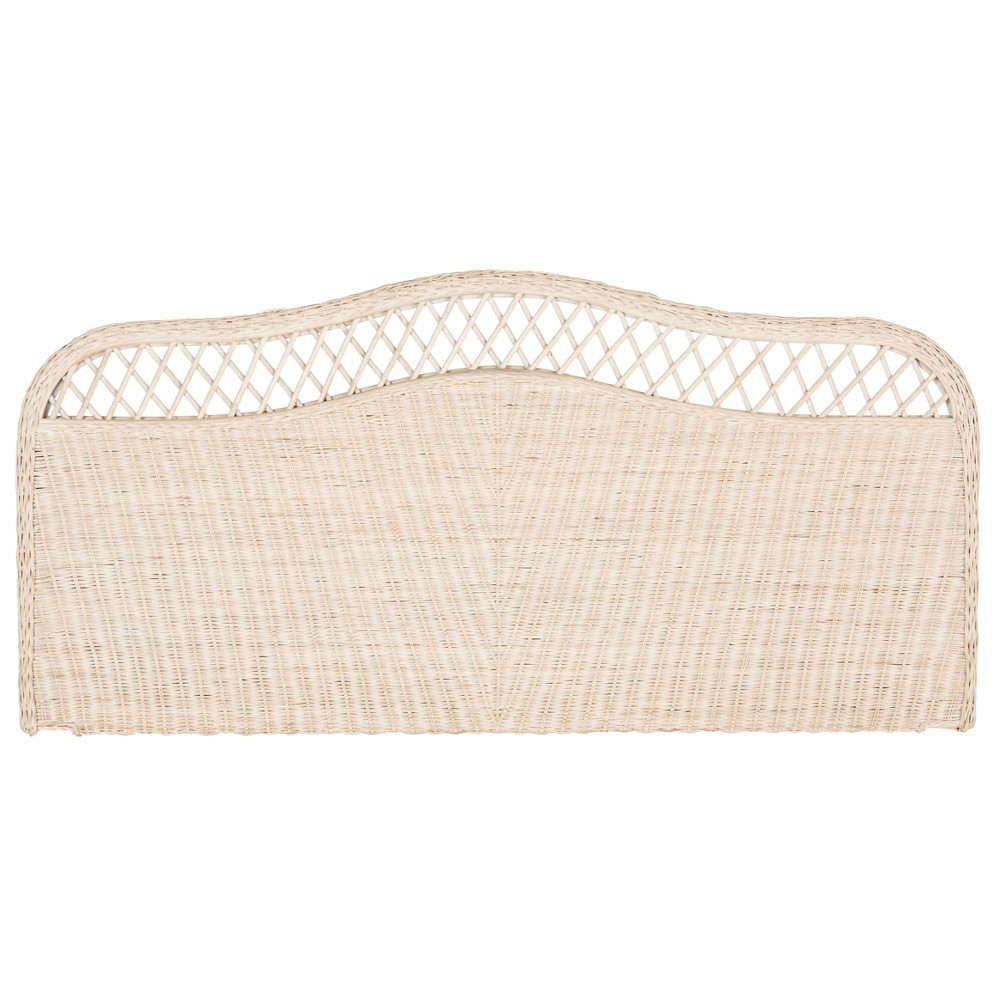 Sephina Rattan Headboard - Full - White Washed - Safavieh